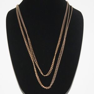 Layered vintage gold chain necklace